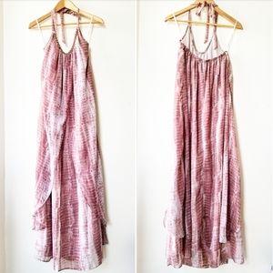 Wendy Bellisimo Beaded Draped Maxi Dress